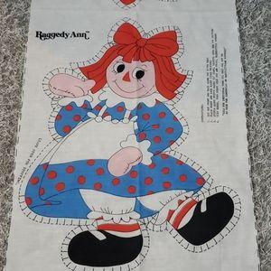 1978 Raggedy Ann Pillow Panel DIY